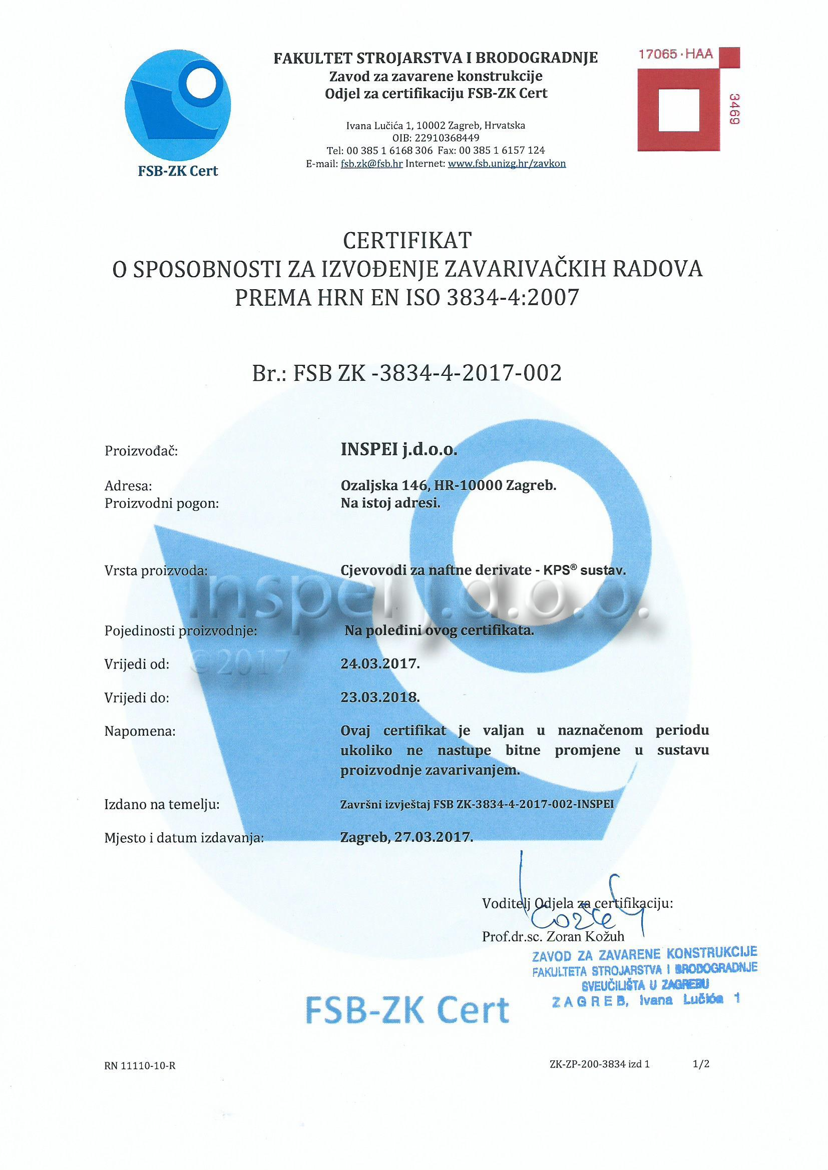 Certificates And Licences Inspei Jdoo